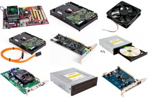 Various IT hardware and computer parts
